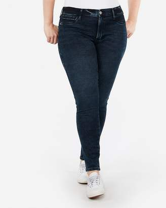 Express Mid Rise Acid Wash Extreme Stretch Jean Leggings