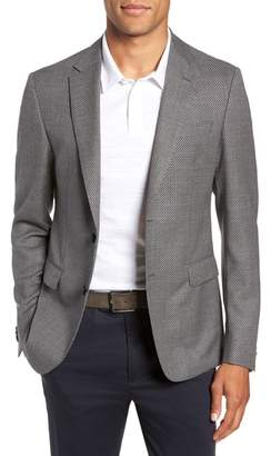 BOSS Nobis Trim Fit Houndstooth Wool Sport Coat