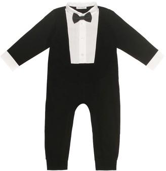Dolce & Gabbana Tuxedo stretch cotton onesie