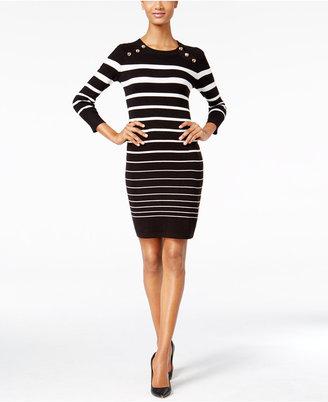 Calvin Klein Striped Sweater Dress $134 thestylecure.com