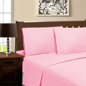 Superior Light Weight and Super Soft Brushed Microfiber, Wrinkle Resistant Sheet Set with Infinity Embroidery
