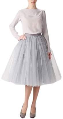 Belle House Women's A Line Short Knee Length Tutu Tulle Prom Party Skirt