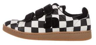 Jerome Dreyfuss Check Print Low-Top Sneakers w/ Tags