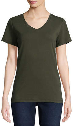 ST. JOHN'S BAY V-Neck T-Shirt - Tall
