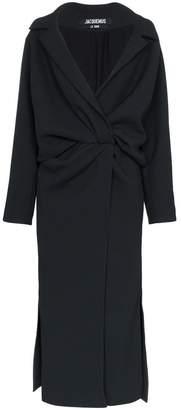 Jacquemus twist front wrap dress