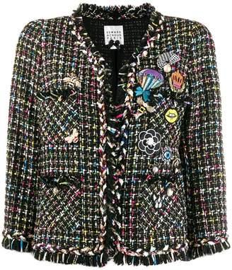 Edward Achour Paris embellished tweed jacket