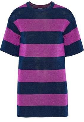 M Missoni Metallic Striped Jacquard-Knit Top