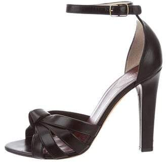 Celine Leather Crossover Sandals
