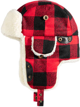 be14e6a7968 ... Woolrich Men Buffalo Plaid Trooper Hat