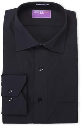 Lorenzo Uomo Black Solid Dress Shirt