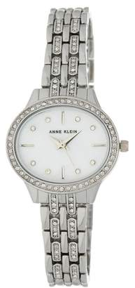 Anne Klein Women's Stainless Steel Bezel Set Bracelet Watch, 24mm