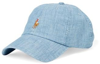 Polo Ralph Lauren Chambray Baseball Cap $39.50 thestylecure.com