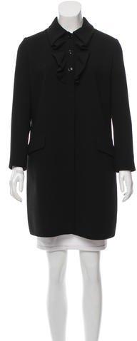 Miu MiuMiu Miu Wool Knee-Length Coat