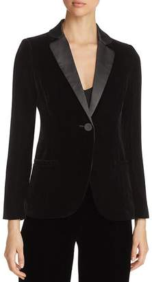 Emporio Armani Contrast-Collar Velvet Blazer