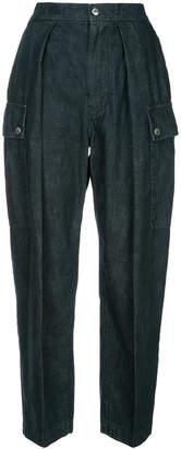 ASTRAET lightweight denim tapered cargo trousers