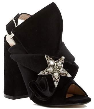N°21 N.21 Velvet Block Heeled Sandal