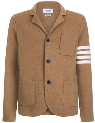 Thom Browne Camel Stripe Sleeve Cardigan