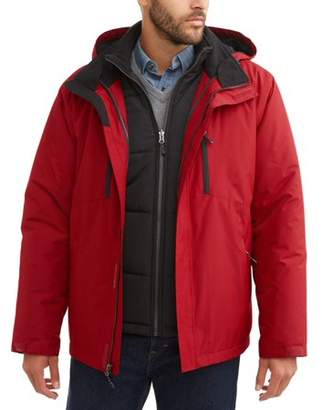 Swiss+Tech Men's 3 In 1 Systems Jacket up to size 5XL