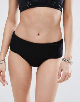 RVCA Rib Fold Over Bikini Bottom