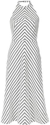 Tufi Duek striped halterneck dress