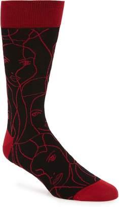 Bugatchi Print Socks