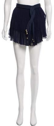 Jay Ahr Silk Mini Skirt