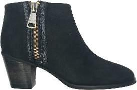 Esska Black And Nubuck Mink Ankle Boot - 38 - Black