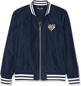 Tommy Hilfiger Girl's AME S Bright Bomber Jacket (Black Iris 002)