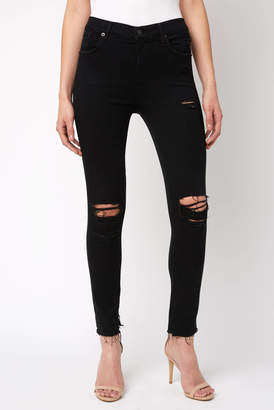 A Gold E Agolde AGOLDE Sophie Gold-Dust High Rise Skinny Jean