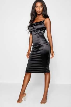 228e80f51d56 Satin Cowl Neck Midi Dress - ShopStyle UK