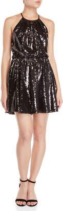 Jay Godfrey Isabel Sequin Fit & Flare Dress