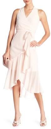 Bebe Over Wrap Maxi Dress