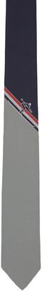 Thom Browne Navy Skier Stripe Classic Tie $230 thestylecure.com