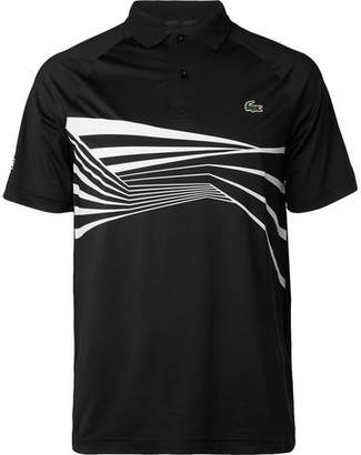 9bf3551c172bd Lacoste Tennis - Novak Djokovic Striped Tech-jersey Polo Shirt - Black