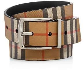 Burberry Clark Vintage Check Leather Reversible Belt