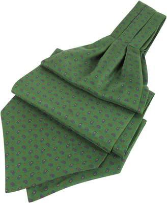 Forzieri Paisley Print Pure Silk Ascot