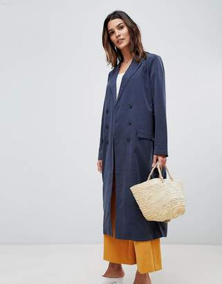 Vila double breasted trench coat