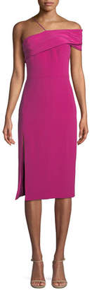 Cushnie et Ochs Twisted-Bustier Sleeveless Silk Crepe Sheath Dress