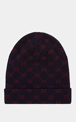 4abd4dc56c1 Gucci Men s Double-G Alpaca-Wool Beanie - Navy