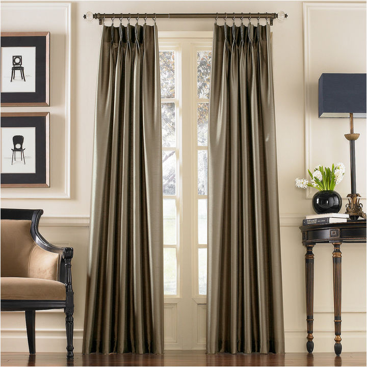 CHFChf Marquee Faux Silk Pinch-Pleat Back-TabCurtain Panel