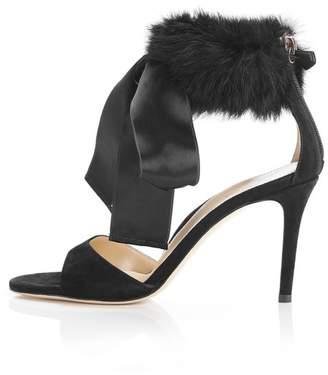 Marion Parke Lucille | Fur Ankle Cuff Stiletto