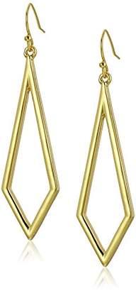 "Trina Turk Core"" Diamond Shape Drp Gold Drop Earings"