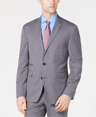43590c01bf Vince Camuto Men Slim-Fit Stretch Wrinkle-Resistant Gray Textured Solid Suit  Jacket