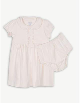 Ralph Lauren Embroidered logo cotton dress and under shorts 3-24 months