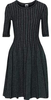 M Missoni Metallic Ribbed-Knit Dress