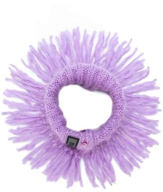 Miu Miu fringed neck scarf