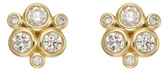 Temple St. Clair 18K Yellow Gold Classic Trio Earrings with Diamonds