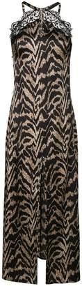 Parah lace trim tiger stripe camisole dress