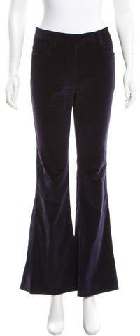 Prada Wide-Leg Corduroy Pants