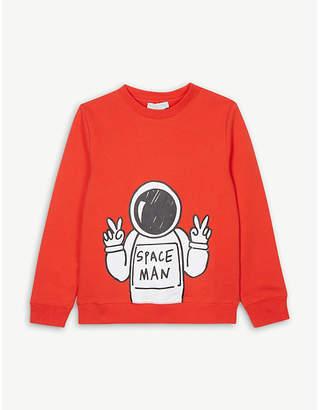 Stella McCartney Space man cotton sweatshirt 4-12 years